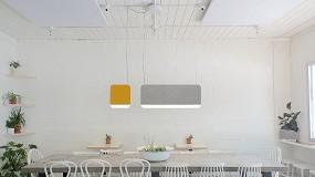 Foto de Andlight presenta la colección Slab, lámparas con amortiguación acústica