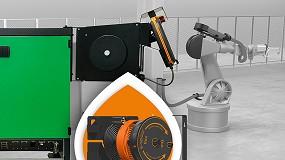 Foto de e-spool flex para uma ligação contínua aos comandos de robôs industriais