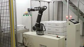 Foto de Reeco Automation instala un cobot paletizador que ocupa un 60% menos que un robot convencional