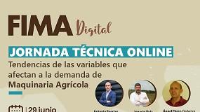 Foto de 'Tendências das variáveis que afetam a procura da maquinaria agrícola' em debate na FIMA digital