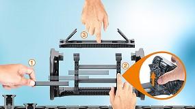 Foto de Bloqueados com segurança: novos separadores interiores para série de calhas articuladas E4Q reduzem o tempo de montagem