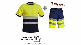 Foto de Conjunto de camiseta y bermuda AV de Adeepi: vestir en alta visibilidad con altas temperaturas