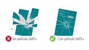 Foto de AGC garantiza, con Safe+, la seguridad personal en vidrios decorativos