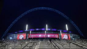 Foto de Nova solução de LED Signage do Wembley Stadium em Londres dá as boas-vindas aos espectadores