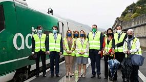 Foto de Primer viaje del tren de pruebas por la Variante de Pajares (Asturias)