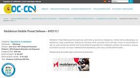 Foto de Mobileiron Threat Defense, cualificada por el CCN para cumplir con el Esquema Nacional de Seguridad