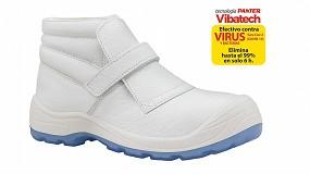 Foto de Fragua Velcro Totale S2 Blanco 269 de Panter el botín de seguridad con el más potente antimicrobiano para el sector sanitario y laboratorios