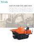Minidumper de orugas KUBOTA KC110HR - descatalogado