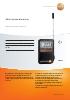 Mini termómetro alarma-testo