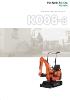 Miniexcavadora 980kg KUBOTA K008-3 giro ultracorto