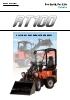 Cargadora articulada sobre neumáticos KUBOTA RT100