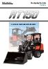Cargadora articulada sobre neumáticos KUBOTA RT150