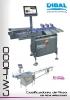 Catálogo clasificadores automáticos por peso DIBAL GW-4000