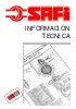 Información técnica válvulas Safi