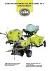 Minempacadoras, miniatadoras y minicarretillas de motor.