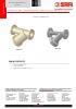 VALVULAS SAFI Filtros strainers en Y bridados PVC-U PVDF PP-H DN65 a DN250 (TDS-INCL-4640A-00-EN)