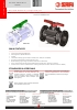 VALVULAS SAFI Válvulas bola bridadas PPGF PVDF PPEL DN80 a DN100 (TDS-BALL-1003B-00-EN)