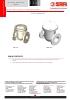 VALVULAS SAFI Válvulas de retención bridadas clapeta batiente PPH PVDF PVC-U PVC-C DN25 a DN200 (TDS-CHECK-3300-00-EN)
