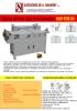 Máquina forradora de tapas semi automática