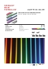 Iluminación lineal de color de dimensiones reducidas Light Stick Color