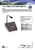 Paneles remoto para emergencia con micrófono Optimus ME200C