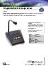 Pupitres microfónicos con control de zonas Optimus MD30C