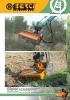 Desbrozadoras - Trituradoras hidráulicas Berti - en punta de retro - serie PARK/SB