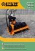 Desbrozadoras - Trituradoras hidráulicas Berti - en punta de retro - series CKT/SB - PARK/SB - RA/SB - TFB/SB