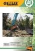 Trituradoras forestales hidráulicas Berti - en punta de retro - serie TBM/SB
