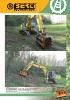 Trituradoras forestales hidráulicas Berti - en punta de retro - serie ECF MD/SB