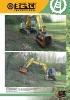 Trituradoras forestales hidráulicas Berti - en punta de retro - serie EFX MD/SB