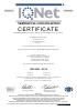 Certificado ISO 9001 - IQNet