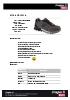 Zapatilla de seguridad deportiva gris-negra