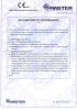Dinamika -Bisagra para puertas - Declaration of performance CE – Ref. Ist. Giordano - A8014.11