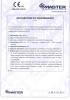 Dinamika -Bisagra para puertas - Declaración de prestaciones CE – Ref. ITB - 8010-11