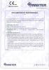 Dinamika -Bisagra para puertas - Declaración de prestaciones CE – Ref. ITB - 8012