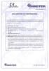 Dinamika -Bisagra para puertas - Declaración de prestaciones CE – Ref. ITB - 8013