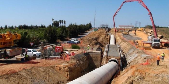 Desdoblamiento de los sifones 4 y 5 del Canal del Piedras en Cartaya, Huelva