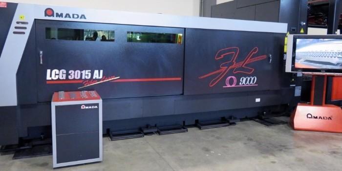 Amada presenta en sus instalaciones de Barcelona la nueva láser fibra LCG-3015AJ de 9 kW