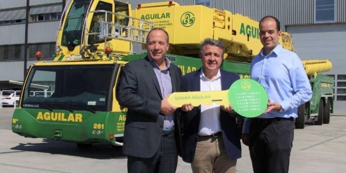 Grúas Aguilar moderniza su parque de maquinaria con siete grúas Liebherr nuevas