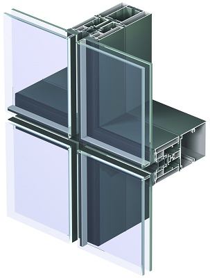 reynaers expone en constumat el muro cortina modular cw de estructural que permite crear fachadas apaneladas mediante un sistema de