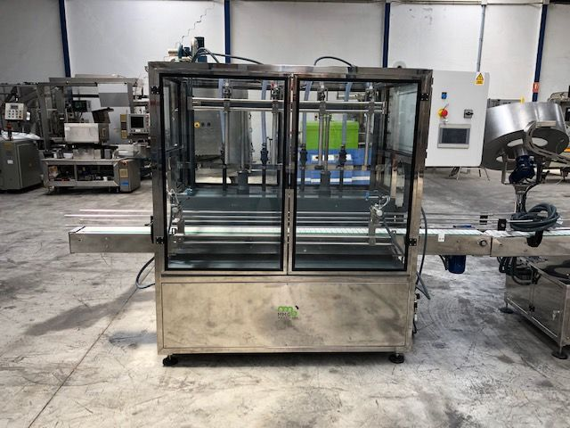 Línea de envasado de garrafas nueva en a/inox 316 y PVC para productos quimicos