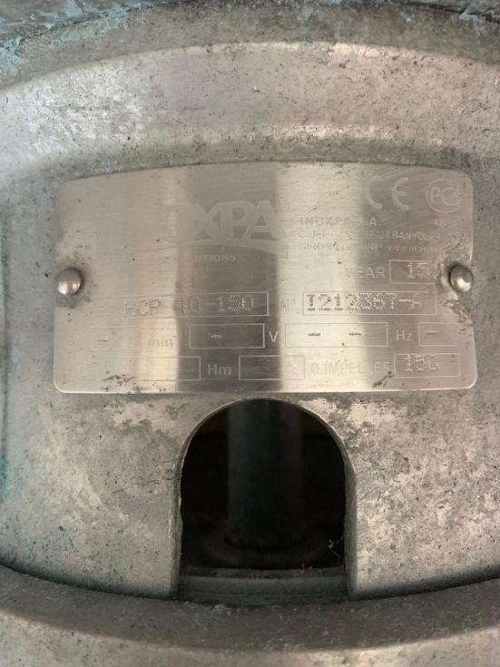 Bomba centrifuga inoxpa hcp 40-150 acero inoxidable de segunda mano
