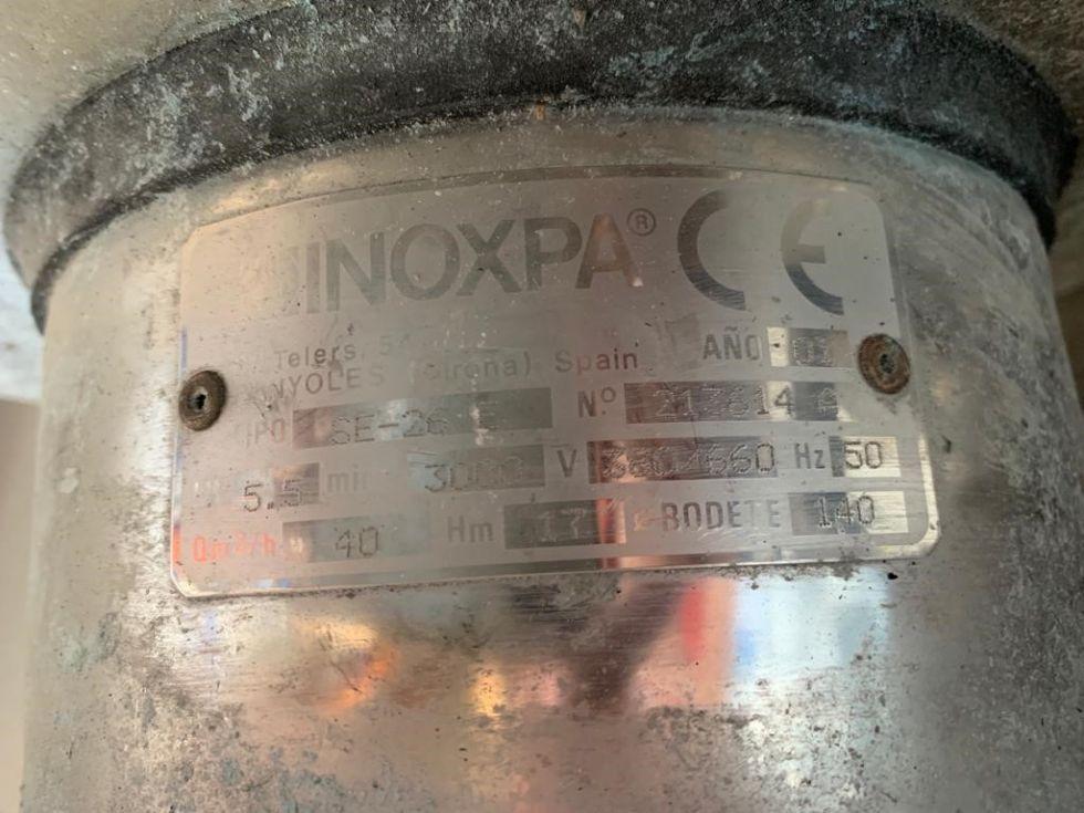 Bomba centrifuga inoxpa se-26 acero inoxidable de segunda mano