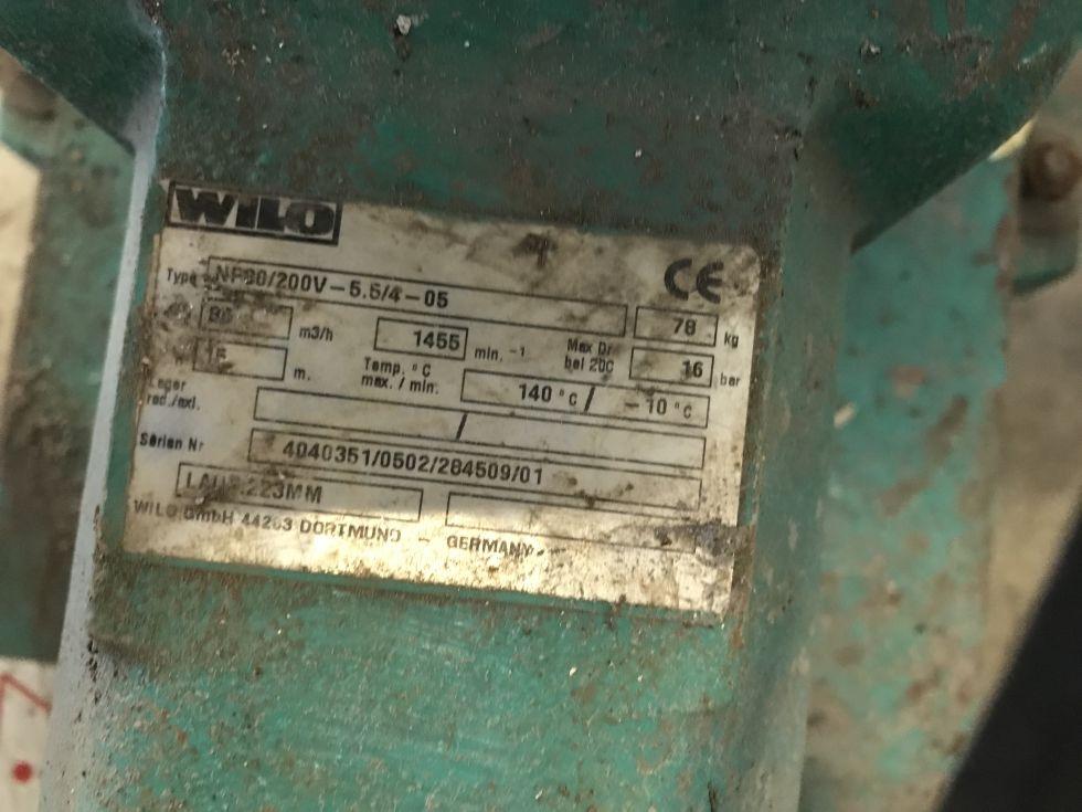 Bomba centrifuga wilo 30 m3/h de segunda mano