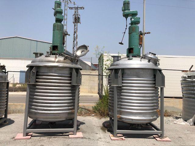 Reactor acero inoxidable 316 con agitador para vapor de capacidad 4.000 lts