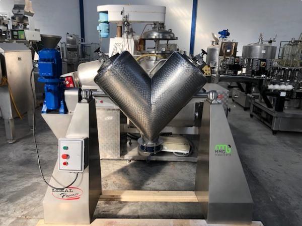 Mezcladora en V acero inoxidable LLEAL capacidad 100 litros
