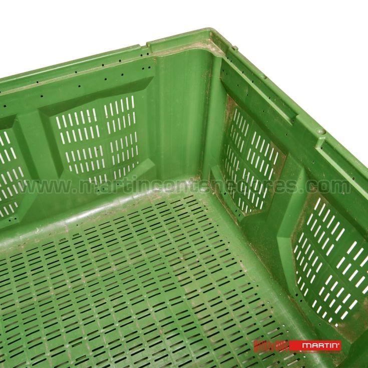 Palot plástico ranurado 1200x1000x780/630 mm 2 patines