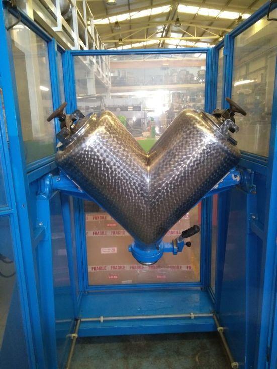 Mezclador en v lleal acero inoxidable 100 litros