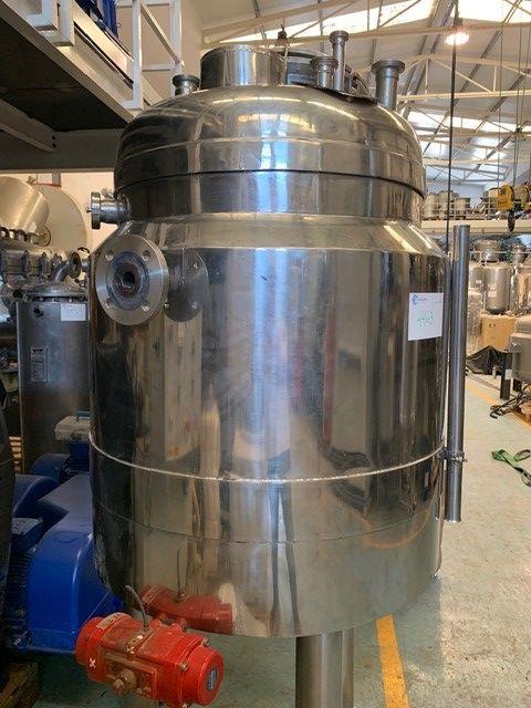 Reactor lleal 300 litros acero inoxidable 316 con camisa de segunda mano
